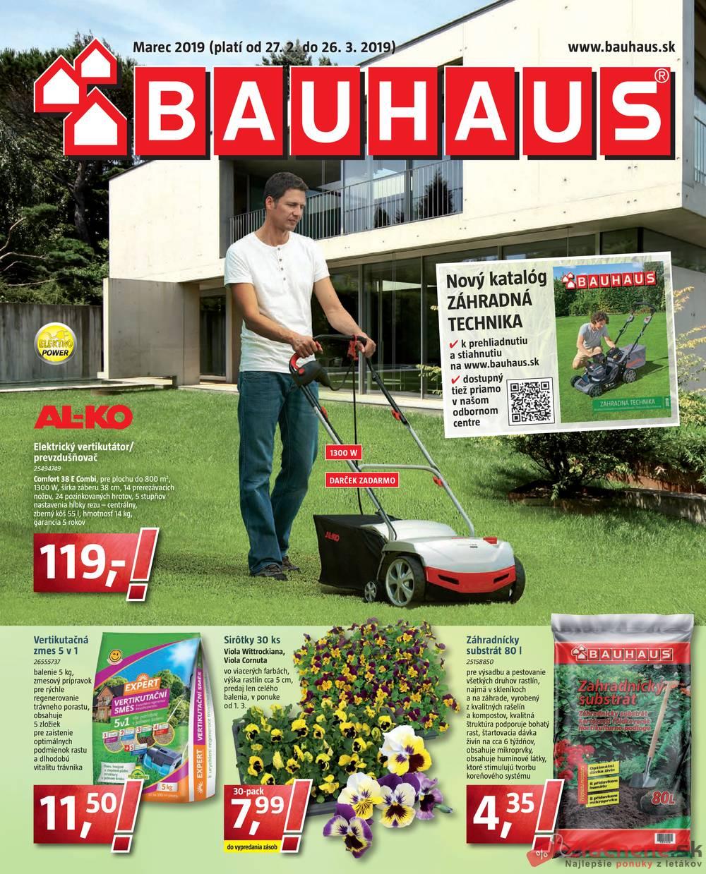 Leták Bauhaus - Bauhaus 27.2. - 26.3. - strana 1