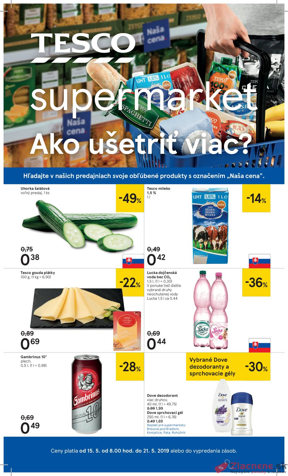 Leták Tesco - Tesco supermarkety od 15.5. do 21.5.2019 - strana 1