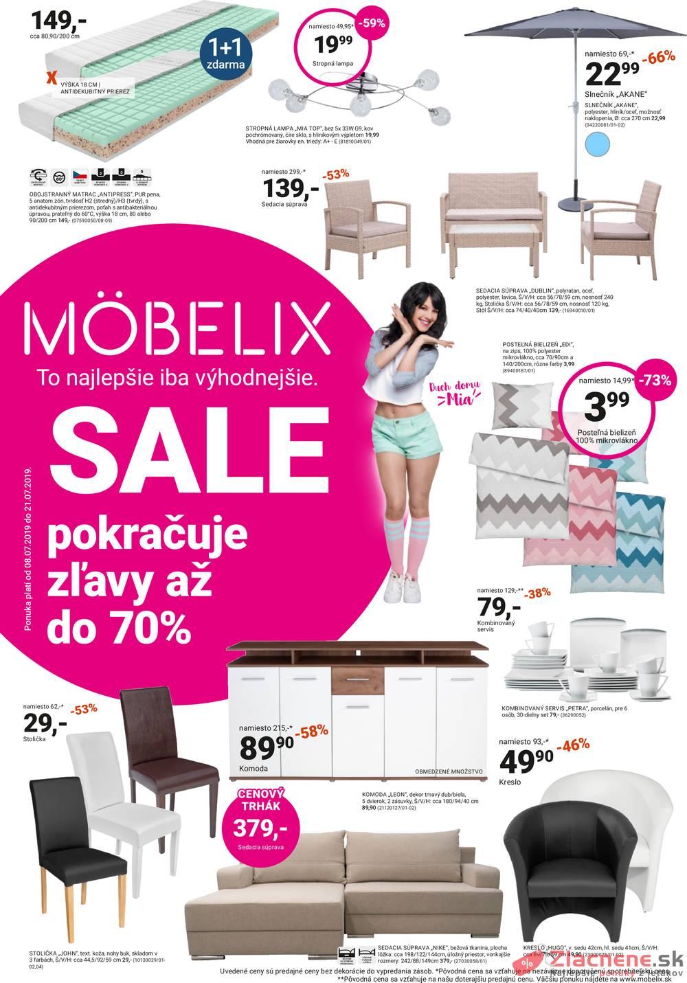 Leták Möbelix - Möbelix od 8.7. do 21.7.2019 - strana 1