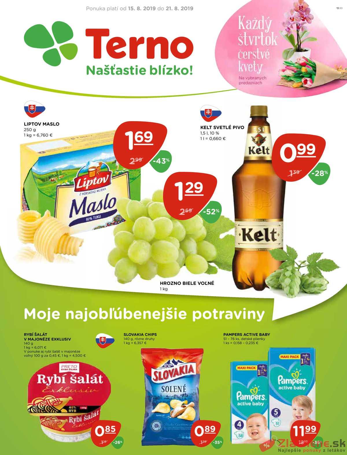 Leták TERNO - Terno  od 15.8. do 21.8.2019 - strana 1