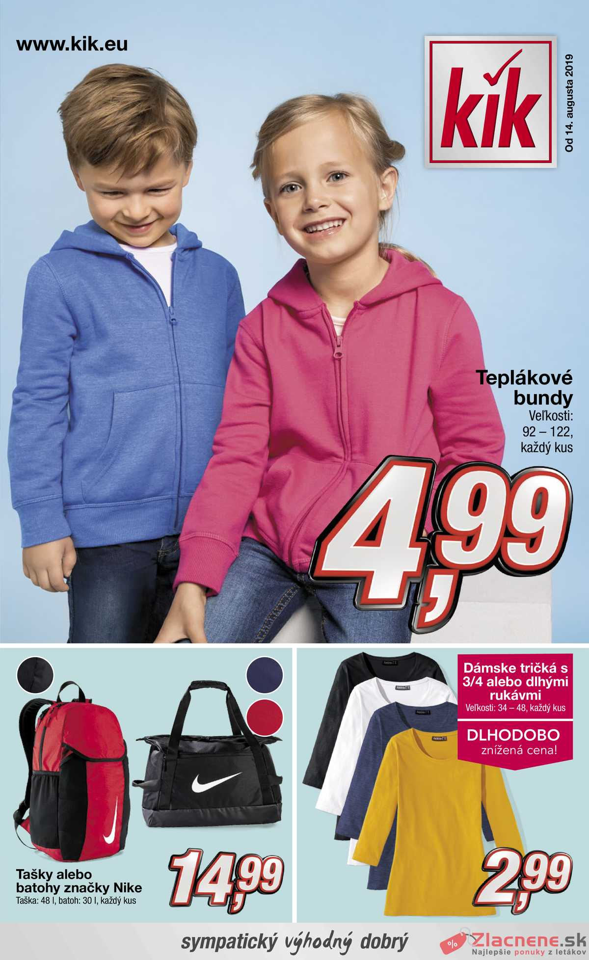 Leták KiK - KiK od 14.8. do 21.8.2019 - strana 1