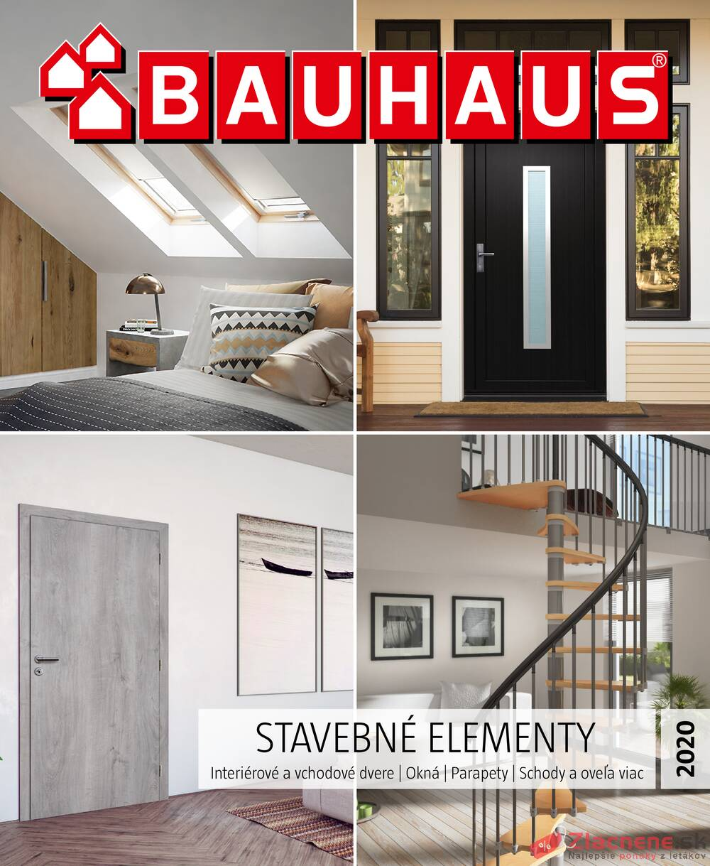 Leták Bauhaus - Bauhaus STAVEBNÉ ELEMENTY 23.6. - 30.11. - strana 1