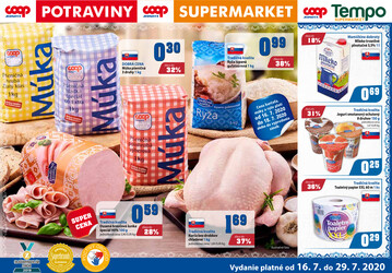 leták COOP Jednota Slovensko