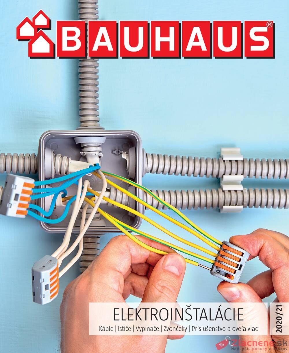 Leták Bauhaus - Bauhaus ELEKTROINŠTALÁCIE 31.8. - 30.4. - strana 1