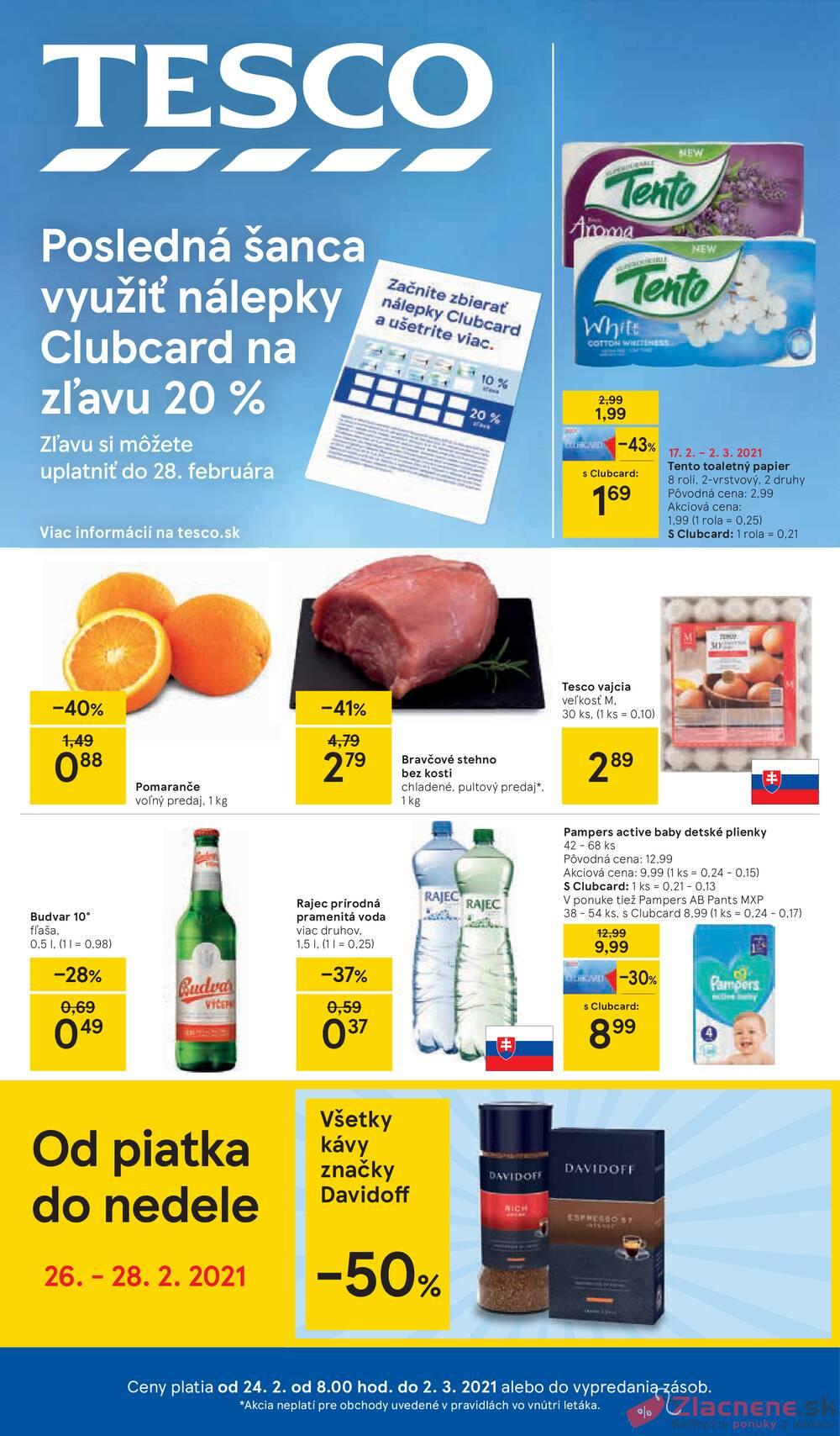 Leták Tesco - Tesco malé hypermarkety od 24.2. do 2.3.2021 - strana 1