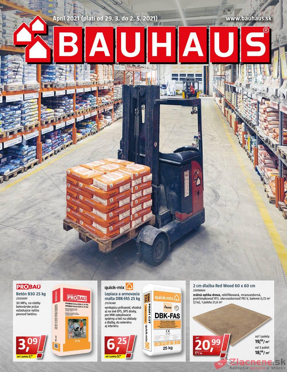 Leták Bauhaus - Bauhaus od 29.3. do 2.5.2021 - strana 1