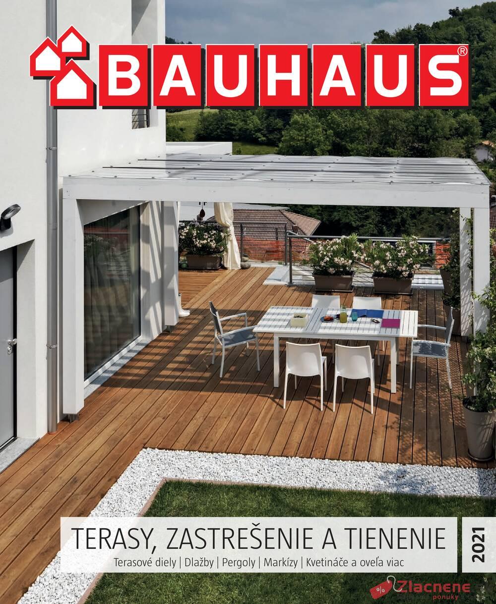 Leták Bauhaus - Bauhaus Terasy 22.3. - 31.5. - strana 1