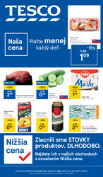 Leták Tesco malé hypermarkety od 21.4. do 27.4.2021