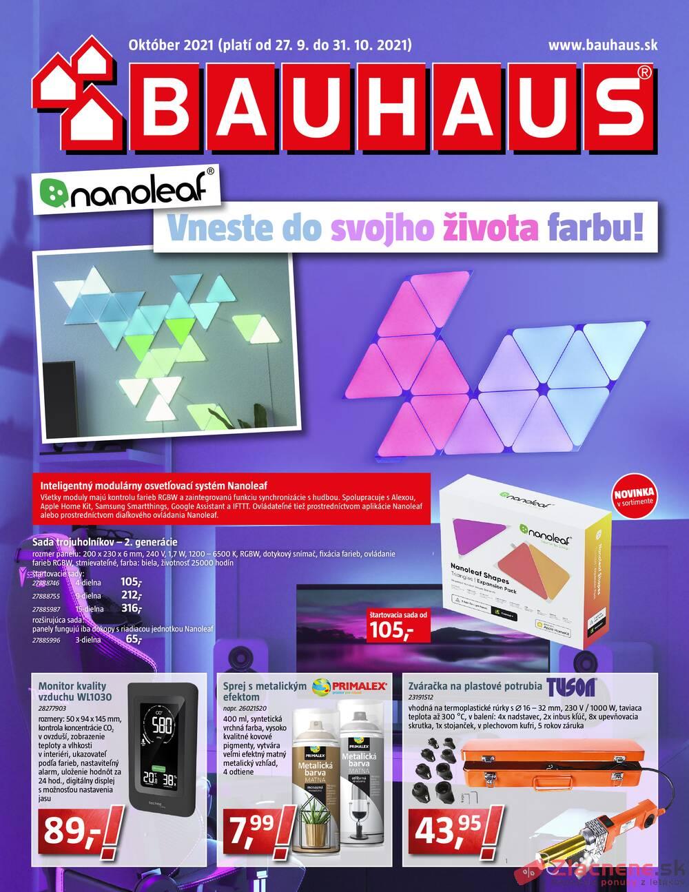 Leták Bauhaus - Bauhaus od 27.9. do 31.10.2021 - strana 1
