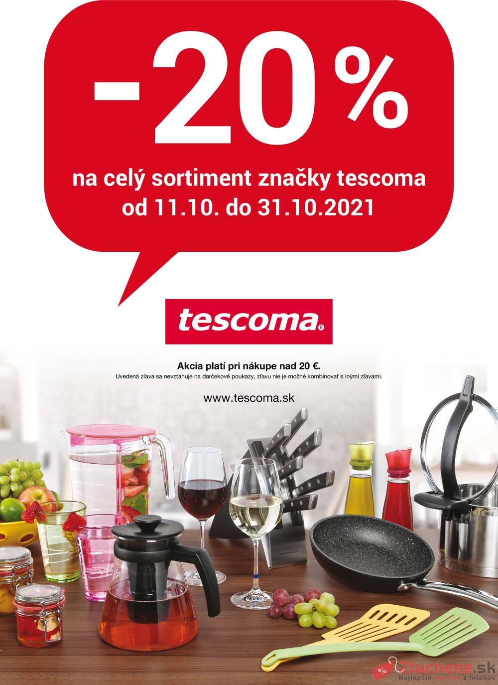 Leták Tescoma - Tescoma 11.10. - 31.10. - strana 1