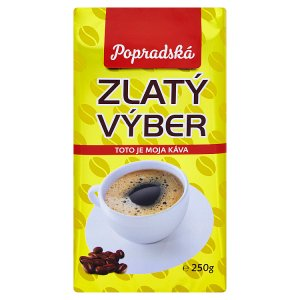 Popradská Zlatý výber pražená mletá káva 250 g