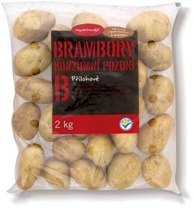 Zemiaky konzumné neskoré, varný typ B 2 kg