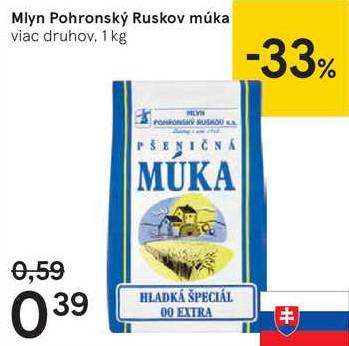 Mlyn Pohronský Ruskov múka, 1 kg