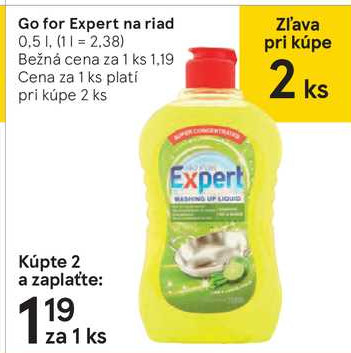 Go for Expert na riad 0,5 l