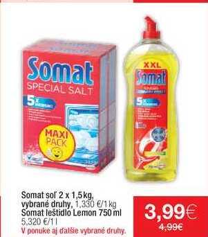 Somat leštidlo Lemon 750 ml